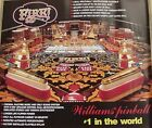 Fire Pinball Machine Original Williams Poster From 1987 D