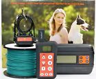 Remote Dog Training Collar  In ground Electronic Containment Fence System Combo