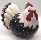 Fitz and Floyd Essentials 'Rise And Shine' Polka Dot Chicken/Hen Figurine