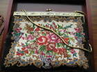 vintage micro petit point 1930s purse handbag