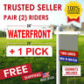 Waterfront Real Estate Sign Rider + ONE 6