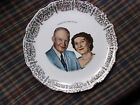 Mamie and Dwight Eisenhower commemorative china plate