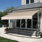 Cafe Patio Patio 82x65 Adjustable Deck Awning Sun Shade Porch Canopy Tan