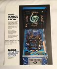 FACTORY ORIGINAL GOTTLIEB 1981 BLACK HOLE PINBALL FLYER MINT