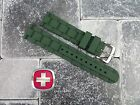 New Victorinox Swiss Army Genuine Rubber Strap Army Green Diver Band 20mm 19mm Z