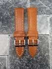22mm VICTORINOX SWISS ARMY Brown COW LEATHER STRAP CAVALRY Thick Watch BAND T X1