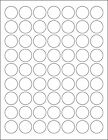 5 SHEETS 1 INCH ROUND BLANK WHITE STICKERS LABELS CUSTOM 315 TOTAL LABELS