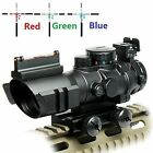 UUQ Prism 4x32 Red Green Blue Triple Illuminated Rapid Range Reticle Rifle Scope