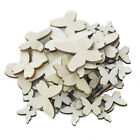 50pcs Wooden Shape Butterfly Unfinished Embellishments for Scrapbook DIY