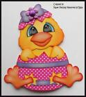 Easter Chick Premade Paper Piecing Die Cut for Scrapbook Page byBabs