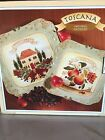 2 Toscana Italy Certified International Pamela Gladding Square Serving Platters