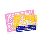 Alphabet Letter and Number Stencils Set of 4 Sizes of Craft Stencils