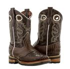 childrens youth boys brown alligator belly rodeo western cowboy boots square toe