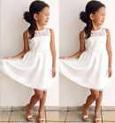 US FAST Kids Girls Toddler Baby Lace Princess Party Dress Skirt Clothes 2 11Y ym