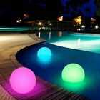 20 40cm Floating LED Ball w Remote Outdoor Swimming Pool Waterproof Light Decor