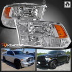 For 2009 2018 Dodge Ram 1500 2500 3500 Clear Quad Headlights Lamps Left+Right