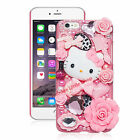 Cute Hello Kitty Crystal Pearl 3D Case For iPhone Back Cover Phone Cases For app