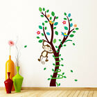 Cartoon Monkey Tree Vines Wall Stickers PVC Decals Kids Baby Room DIY Home Decor