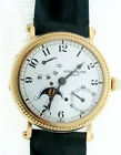 Patek Philippe Power Reserve Moonphase 5015J 18K Yellow Gold White Men's Watch