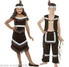 Boys Girls Childs Native Indian Squaw Chief Warrior Fancy Dress Costume Outfit