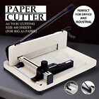Heavy Duty 12 Manual Guillotine Paper Cutter Trimmer 400 Sheets Metal Machine