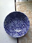 Two Blue/white Flowers Calico Queens Soup/cereal Bowls 6