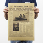 The New York Times History Poster Titanic Shipwreck Old Newspaper