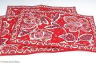 Vera Bradley Set of 3 Placemats Quilted Cotton Reds Floral Paisley Mint 5574
