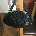 Womens Black Glittery French Connection Formal Evening Bag