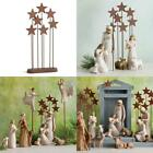 Christmas Holiday XMAS Willow Tree Metal Star Backdrop Nativity Scene Collection