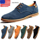 Multi Size Mens Suede Casual Oxfords Leather Shoes Business Dress Formal US