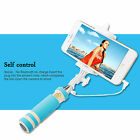 60CM Extendable Monopod Self pole Handheld Wired Selfie Stick For iPhone Android
