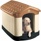 Large All Weather Double Wall Insulated Dog House with Floor Outdoor Decor