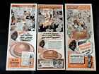 Rare Lot Of 3 Black Americana 1940's Aunt Jemima TIME magazine  Advertisements