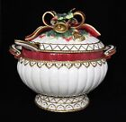 Fitz And Floyd CHRISTMAS DEER Holiday Large Soup Tureen With Ladle