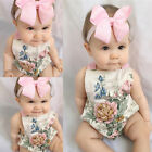 USA Adorable Newborn Kids Baby Girls Bodysuit Floral Sunsuit Romper Outfit 0 18M