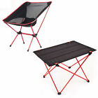 Portable Folding Aluminium Table Desk Chair Stool Camping Outdoor Picnic w Bag