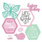 Sizzix Framelits Die Set 11PK w Stamps Thanks for Being You Kate Lizardi 661939