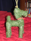 CHRISTMAS REINDEER MADE WITH ARTIFICIAL TREE MATERIAL missing red nose