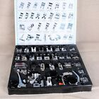 Domestic Sewing Machine Presser Foot Feet Box Snap For Brother Singer Set 32 Pcs