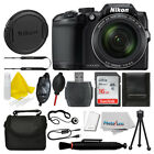 Nikon COOLPIX B500 16MP Digital Camera Black + 16GB Deluxe Accessory Bundle