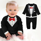 Baby Boy Formal Suit Party Wedding Tuxedo Gentleman Romper Jumpsuit Outfit