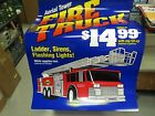 SUNOCO 1995 FIRE TRUCK POINT OF SALE PROMOTION STATION SIGNS-4 BRAND NEW-MINT