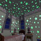 100pcs3D Star Glow In The Dark Luminous Ceiling Wall Stickers Baby Bedroom US