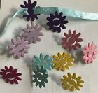 Colorful Flower Brads Pointed Petals with Ribbon Slats