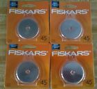 4 Packages Fiskars Rotary Cutter Blades 45mm NEW  SEALED FREE SHIPPING