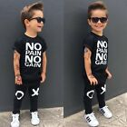 Toddler Kids Baby Boys Summer Casual Clothes T shirt Tops+Pants Outfits 2pcs Set