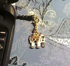 Elephant Gold Cell Phone Charm Dust Plug Cover All Phones++1 SHIP