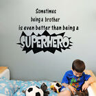 Black Quotes Hero Wall Stickers Vinyl Art Decor Home Baby Room Decal US STOCK