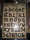 Tim Holtz idea ology Cling Foam Stamps Stamp Type Lower Advantus Scrapbook
